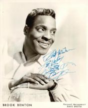 Brook Benton Autograph Signed Photo